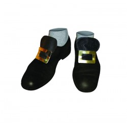 Boucles de Chaussures Adulte Noir & Or - Déguisement sorcier adulte halloween the duck