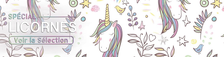 Licornes : déguisements, coussin, objets insolites et accessoires