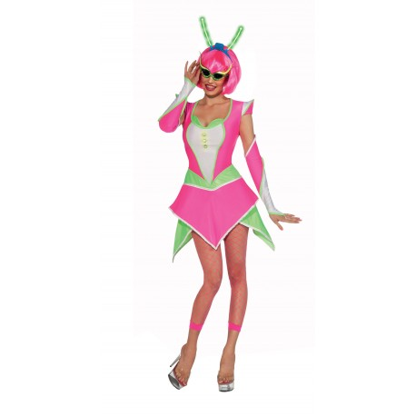 Déguisement Alien Fluo Rose Femme - Costume Fluo The Duck