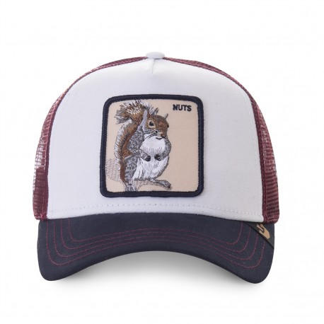Casquette Ecureuil Blanche Nuts GOORIN BROS - Casquette Animaux Mode Pas Cher The Duck