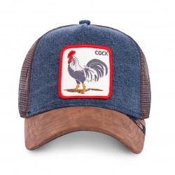 Casquette Cock Bleue & Marron GOORIN BROS - Casquette Animaux Mode Pas Cher The Duck