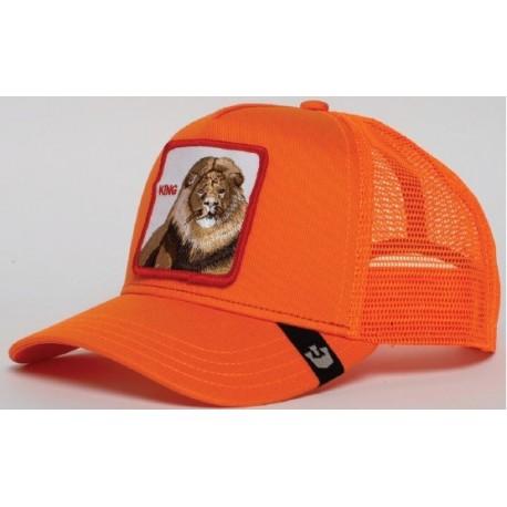 Casquette Lion Orange King GOORIN BROS - Casquette Animaux Mode Pas Cher The Duck