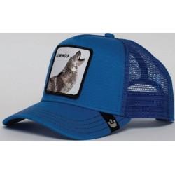 Casquette Lone Wolf Bleue GOORIN BROS - Casquette Animaux Mode Pas Cher The Duck