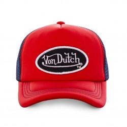 Casquette Rouge et Bleue Adulte Von Dutch - Casquette Mode Von Dutch The Duck