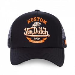 La casquette kustom classics noire Von Dutch est réglable et faite rien que pour vous ! Choisissez d'être à la mode pour l'été avec cette marque confort et tendance. Retrouvez l'esprit de créativité mêlant vintage et anticonformisme de l'Amérique de 1950 et de la marque au fil de ses collections de casquettes toujours à la mode.