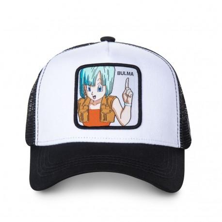 Casquette Bulma Dragon Ball Z Blanche et Noir Adulte - Casquette Héros de Mode The Duck