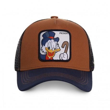 Casquette Picsou Marron et Bleue Adulte - Casquette Héros The Duck