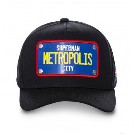 Casquette Superman Metropolis City Noire Adulte - Casquette Héros The Duck
