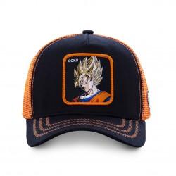 Casquette Goku Saiyan DBZ Noire et Orange Adulte - Casquette Héros The Duck