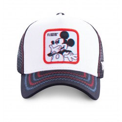 Casquette Mickey Floatin Disney Blanche Adulte - Casquette Héros The Duck