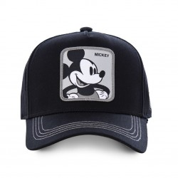 Casquette Mickey Disney Filet Noire Adulte Capslab - Casquette Héros The Duck