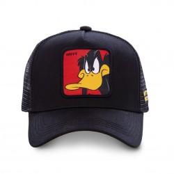 Casquette Daffy Looney Tunes Noire Adulte Capslab - Casquette Héros The Duck