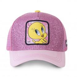 Casquette Titi Rose Femme Capslab - Casquette Héros The Duck