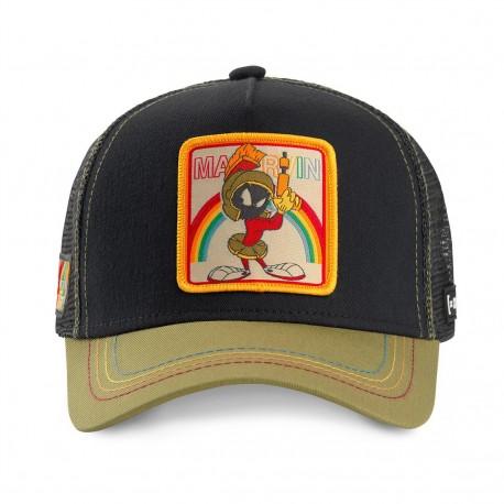 Casquette Marvin le Martien Noire et Verte Adulte Capslab - Casquette Héros The Duck