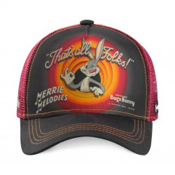 Casquette Bugs Bunny Looney Tunes Rouge Adulte Capslab - Casquette Héros The Duck