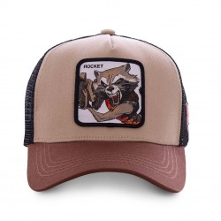 Casquette Rocket Marron Adulte Capslab - Casquette Héros The Duck