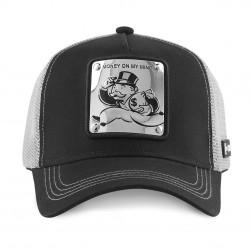 La casquette Monopoly noire et argent adulte Capslab est parfaite pour un grand collectionneur de casquette Capslab et un amateur de jeux de société. Elle est brodé d'un patch
