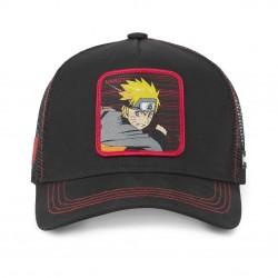 Casquette Naruto Noire et Rouge Adulte Capslab - Casquette Héros The Duck