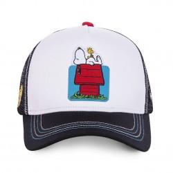 Casquette Snoopy Blanche et Bleue Adulte Capslab - Casquette Héros The Duck