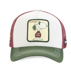 Casquette Snoopy Blanche Adulte Capslab - Casquette Héros The Duck