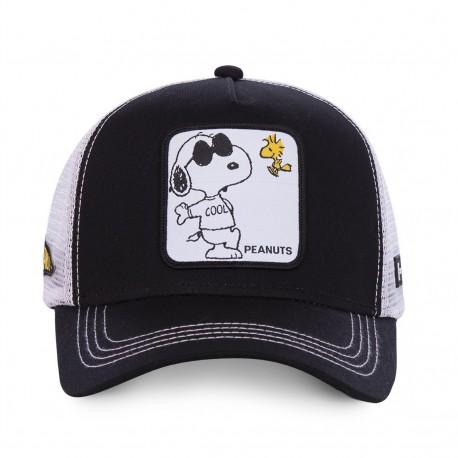 Casquette Snoopy Noire et Blanche Adulte