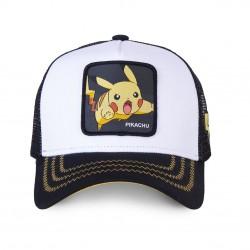 Casquette Pikachu Blanche et Noire Adulte Capslab - Casquette Héros The Duck