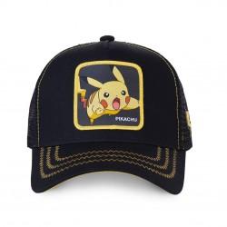 Casquette Pikachu Noire Adulte Capslab - Casquette Héros The Duck