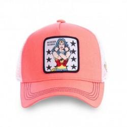 Casquette Wonder Woman Rose Femme Capslab - Casquette Héros The Duck