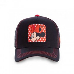Casquette Minnie Noire et Rouge Femme Capslab - Casquette Héros The Duck