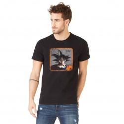 Tee Shirt Goku DBZ Noir Adulte Capslab - Tee-Shirt Héros The Duck