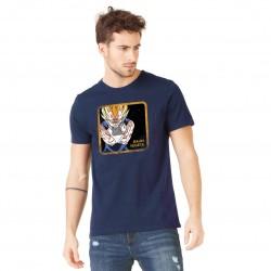 Tee Shirt Majin Vegeta DBZ Bleu Adulte Capslab - Tee-Shirt Héros The Duck