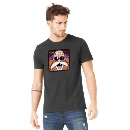 Tee Shirt Kame DBZ Noir Adulte Capslab - Tee-Shirt Héros The Duck