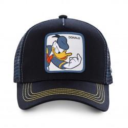 Casquette Donald Disney Noire Enfant Capslab - Casquette Héros The Duck