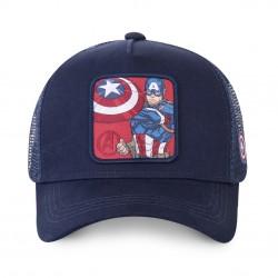 Casquette Captain America Bleue Enfant Capslab - Casquette Héros The Duck