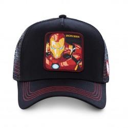Casquette Iron Man Noire Enfant Capslab - Casquette Héros The Duck
