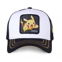 Casquette Pikachu Blanche et Noire Enfant Capslab - Casquette Héros The Duck