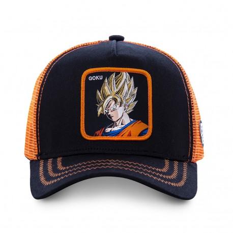 Casquette Goku Saiyan DBZ Noire et Orange Enfant Capslab - Casquette Héros The Duck