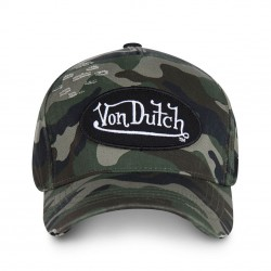 Casquette Camouflage Militaire Adulte Von Dutch - Casquette Mode Urbaine The Duck
