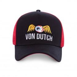 Casquette Noire et Rouge Adulte Von Dutch - Casquette Mode Urbaine The Duck