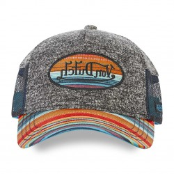 Casquette Grise Visière Multicolore Adulte Von Dutch - Casquette Mode Von Dutch The Duck
