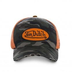 Casquette Camouflage Militaire Filet Orange Adulte Von Dutch - Casquette Mode Von Dutch The Duck