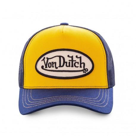 Casquette Baseball Classique Jaune et Bleue Adulte Von Dutch - Casquette Mode Von Dutch The Duck