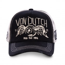 Casquette Vintage Noire Filet Adulte Von Dutch - Casquette Mode Von Dutch The Duck