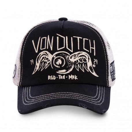 Casquette Vintage Noire Filet Adulte Von Dutch - Casquette Mode Von Dutch The Duck
