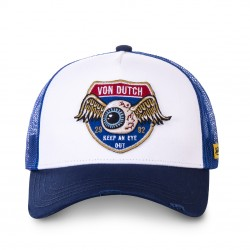 Casquette Vintage Blanche et Bleue Adulte Von Dutch - Casquette Mode Von Dutch The Duck