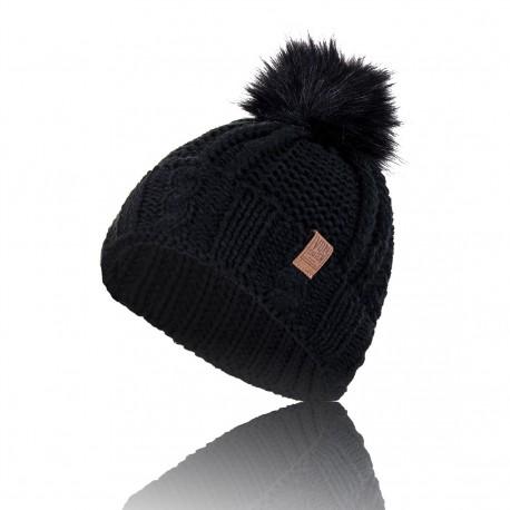 Bonnet Noir à Pompom Von Dutch - Bonnet hiver von dutch ski The Duck