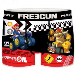 Boxer Mario vs Bowser Mario Kart Rouge, Noir & Blanc Adulte Freegun - Boxer freegun pas cher The Duck
