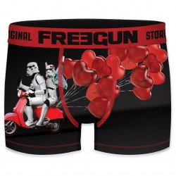 Boxer Stormtrooper Scooter de l'Amour Coeur Rouge Homme Freegun - Boxer humoristique Star Wars Stormtrooper Freegun The Duck