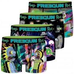 Lot de 4 boxers Rick et Morty Homme Freegun - Lot de boxer freegun pour adulte The Duck