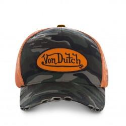 Casquette Vintage Camouflage et Orange Enfant Von Dutch - Casquettes enfant The Duck